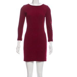 Sandro Wool-blend Maroon dress